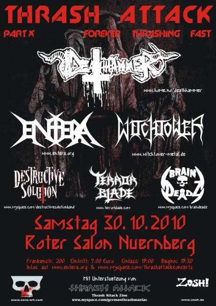 THRASH ATTACK FESTIVAL: 30.10. in Nürnberg