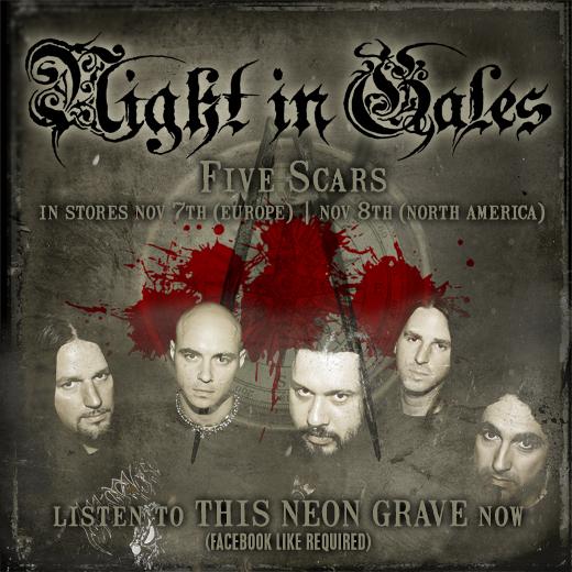 NIGHT IN GALES: neuer Song vom kommenden Album 'Five Scars' online