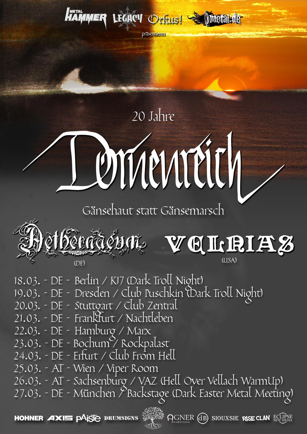 Dornenreich Tour – Gänsehaut statt Gänsemarsch 1996-2016