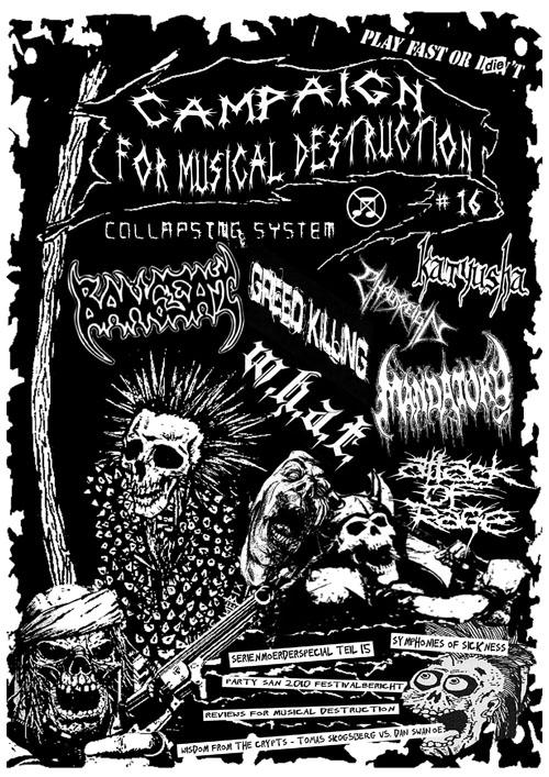 Campaign For Musical Destruction Zine #16