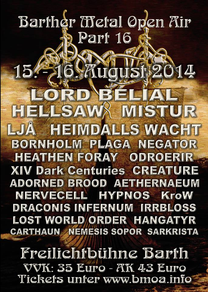 Vorbericht: Barther Metal Open Air 2014