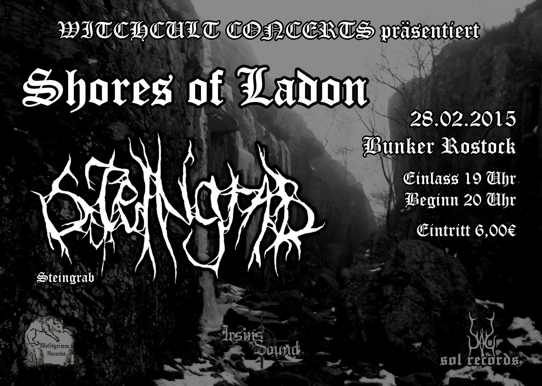 Witchcult präsentiert: Shroud Of Satan, Steingrab, Shores Of Ladon