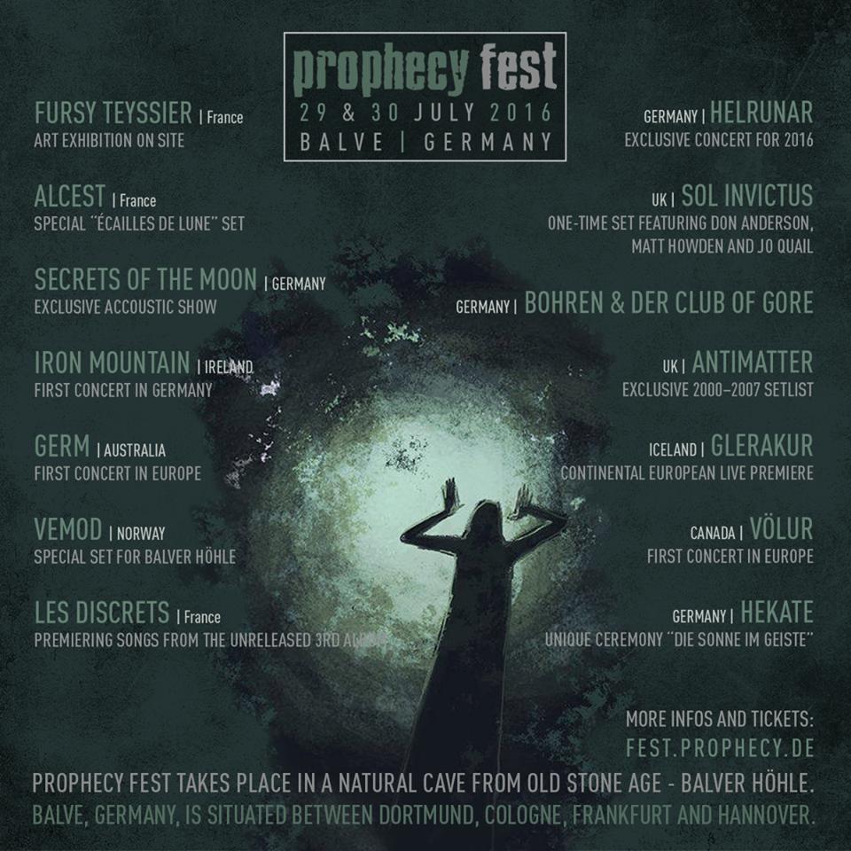 Vorbericht: Prophecy Fest (28.07.-30.07.2016)