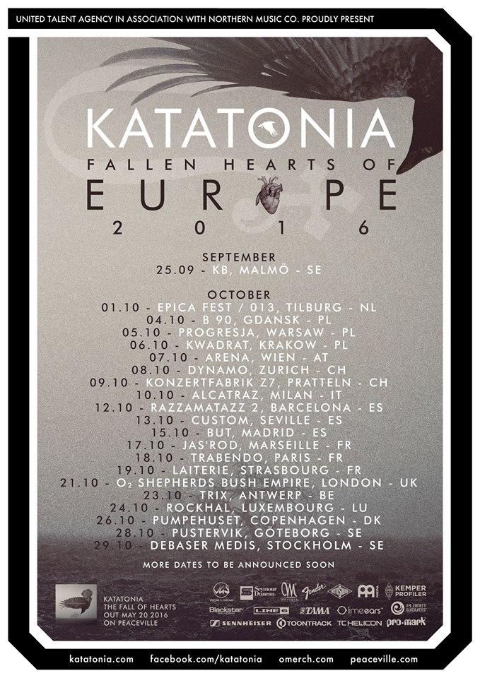 Katatonia Tour – The Fall Of Hearts 2016