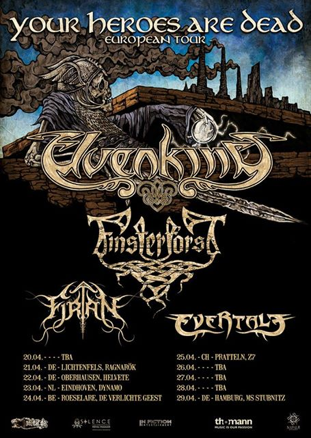 Elvenking, Finsterforst, Firtan, Evertale @ MS Stubnitz Hamburg, 29.04.2017