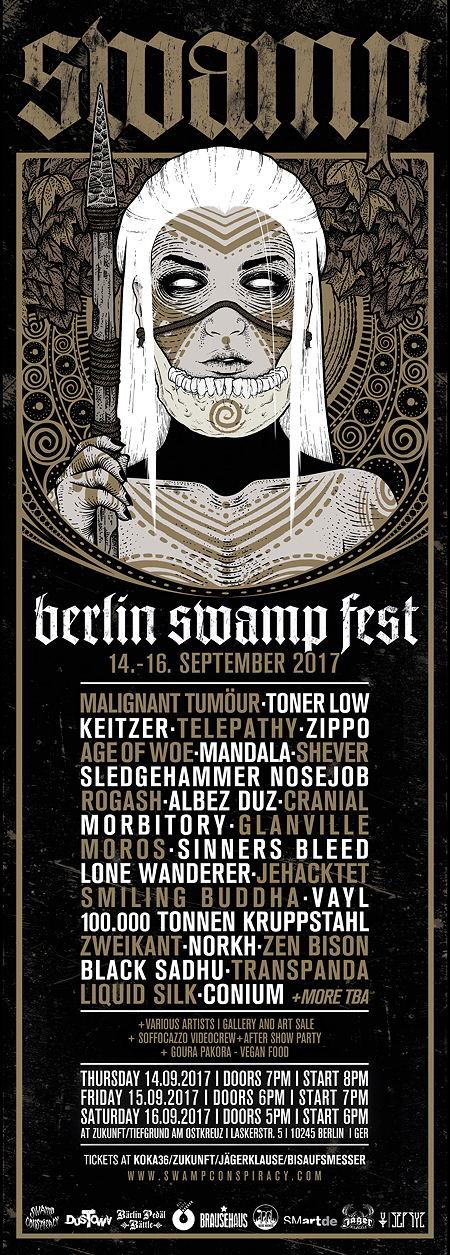 Berlin Swamp Fest, 14. – 16.09.2017, Berlin Zukunft am Ostkreuz