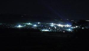 Festivalgelände bei Nacht