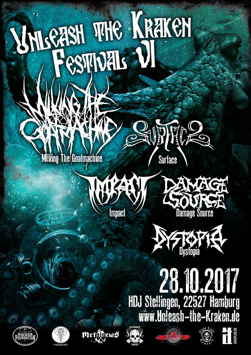 UNLEASH THE KRAKEN FESTIVAL: 28.10.2017, Hamburg