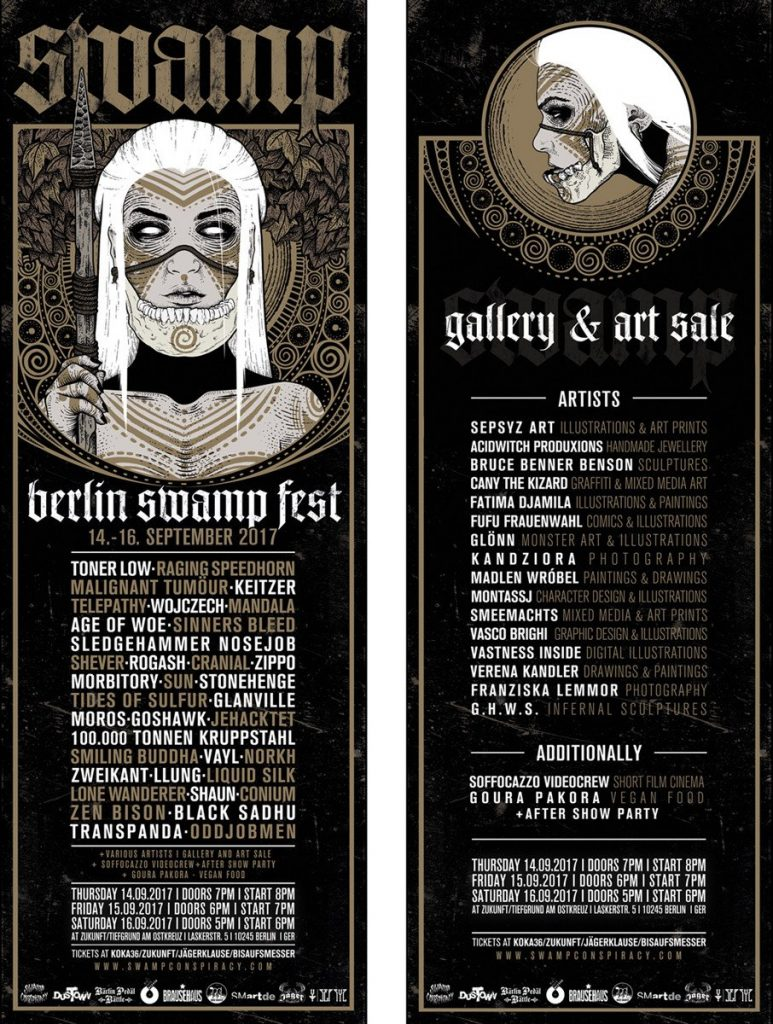 Berlin Swamp Fest 2017 - Programm und Running Order