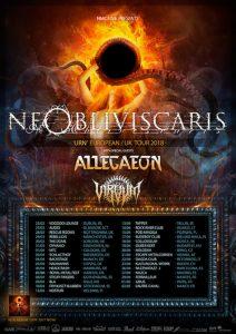 NE OBLIVISCARIS, ALLEGAEON, VIRVUM Europatour 2018