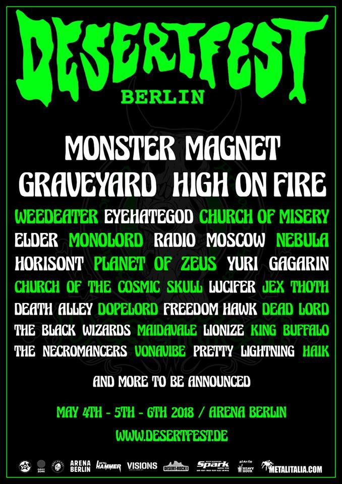 Vorbericht: Desertfest Berlin 2018