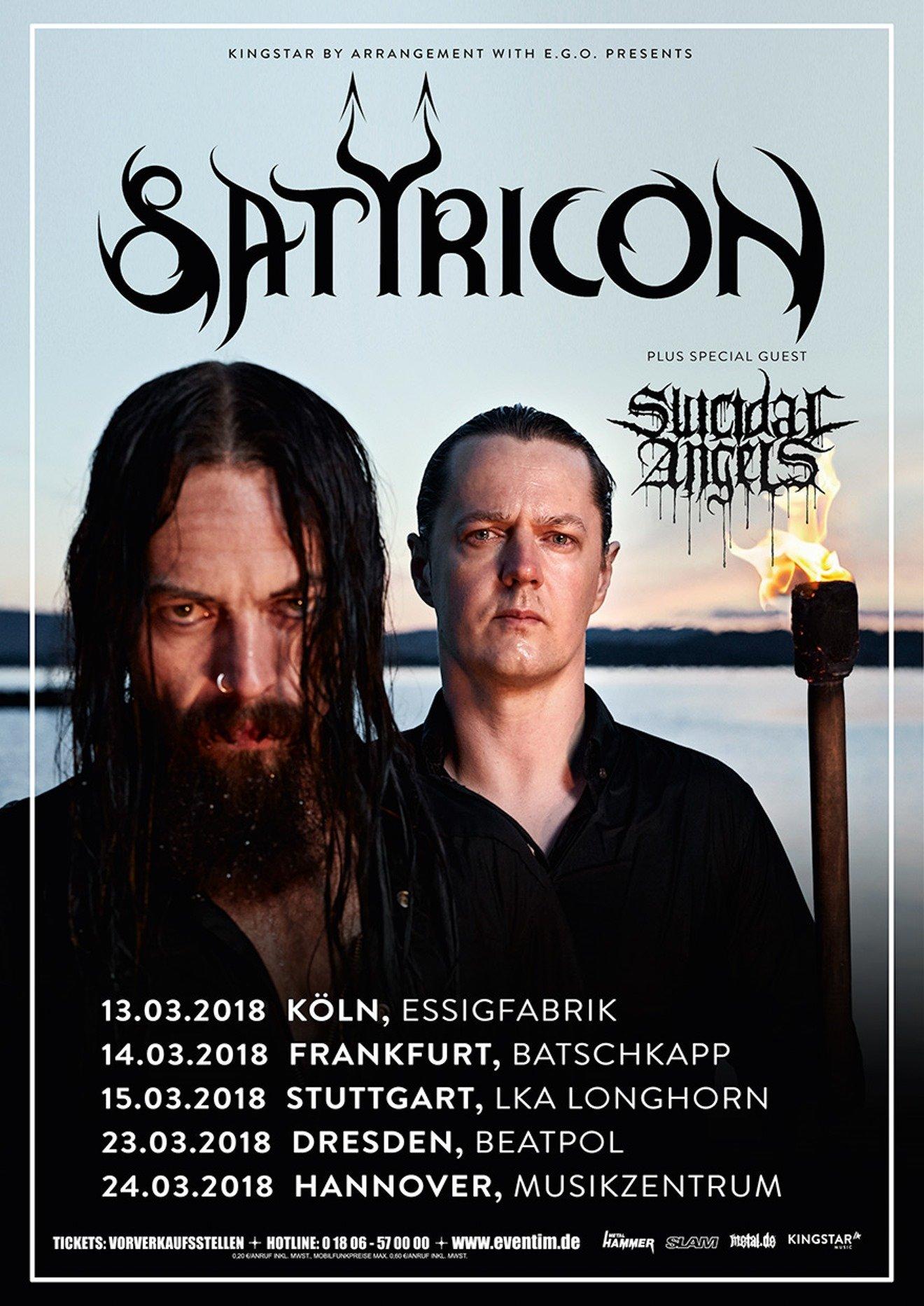 Satyricon & Suicidal Angels im Musikzentrum Hannover, 24. März 2018